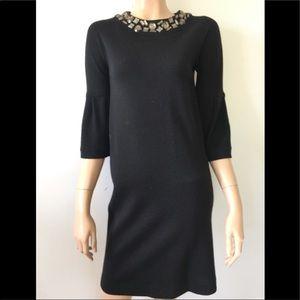 Vince 100% wool midi dress black XS